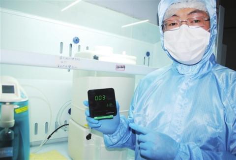 """""""健康果""""甲醛浓度检测仪一秒就能测出甲醛浓度"""